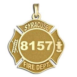 Personalized Syracuse Fire Department Badge