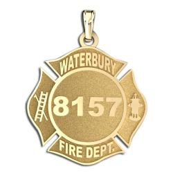Personalized Waterbury Fire Department Badge
