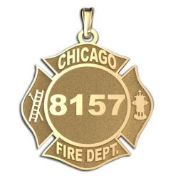 Personalized Chicago Fire Department Badge