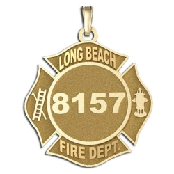 Personalized Long Beach Fire Department Badge