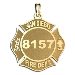 Personalized San Diego Fire Department Badge