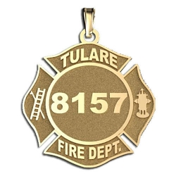 Personalized Tulare Fire Department Badge