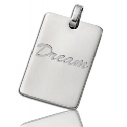 Stainless Steel Rectangular Dog Tag Pendant