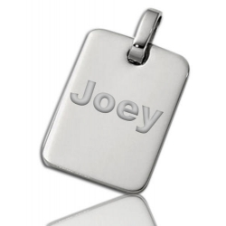 Stainless Steel Small Rectangular Dog Tag Pendant