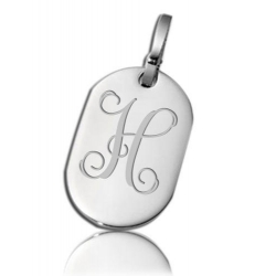 Stainless Steel Oval Dog Tag Pendant