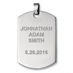 Engraveable Titanium Dog Tag