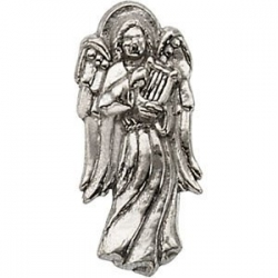 ANGEL W HARP LAPEL PIN