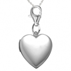 Sterling Silver   Sweetheart  Heart Locket w  Charm Lock