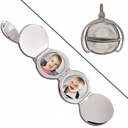 Sterling Silver Ball Four Photo Locket