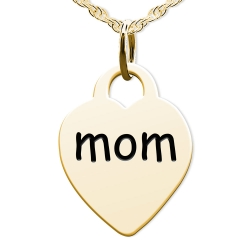 Mom Heart Shaped Charm