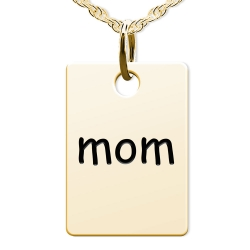 Mom Rectangle Shaped Charm