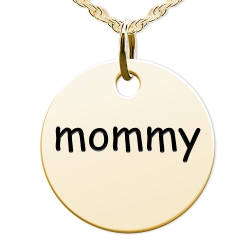 Mommy Round Disc Charm