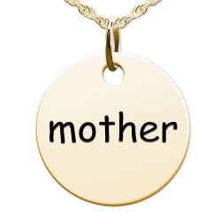 Mother Round Disc Charm