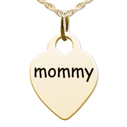 Mommy Heart Shaped Charm