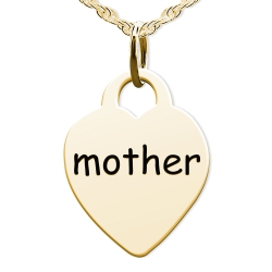 Mother Heart Shaped Charm