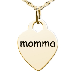 Momma Heart Shaped Charm