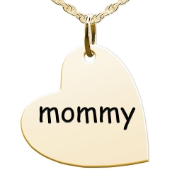 Mommy Sideways Heart Shaped Charm