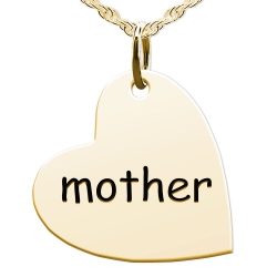 Mother Sideways Heart Shaped Charm