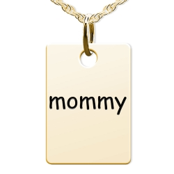 Mommy Rectangle Shaped Charm