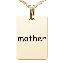 Mother Rectangle Shaped Charm