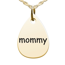 Mommy Teardrop Shaped Charm