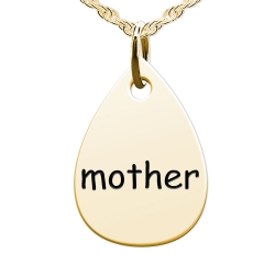 Mother Teardrop Shaped Charm