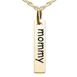 Mommy Tall Tag Charm