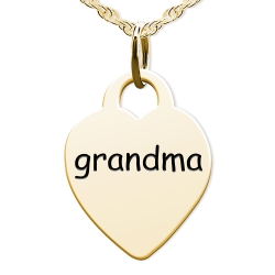 Grandma Heart Shaped Charm