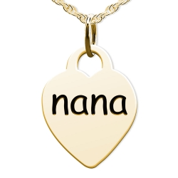 Nana Heart Shaped Charm