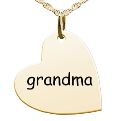 Grandma Sideways Heart Shaped Charm