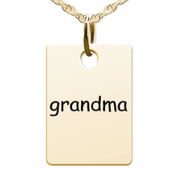Grandma Rectangle Shaped Charm