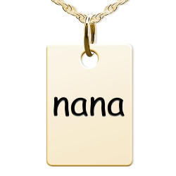 Nana Rectangle Shaped Charm