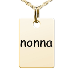 Nonna  Rectangle Shaped Charm