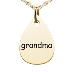Grandma  Teardrop Shaped Charm