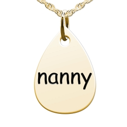 Nanny Teardrop Shaped Charm