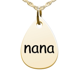 Nana Teardrop Shaped Charm