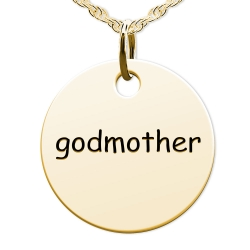 Godmother  Round Disc Charm