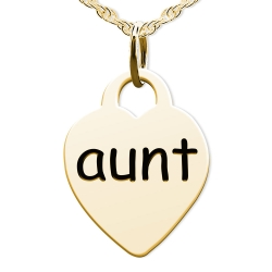 Aunt  Heart Shaped Charm