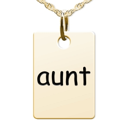 Aunt  Rectangle Shaped Charm
