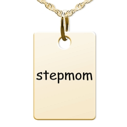 Stepmom Rectangle Shaped Charm