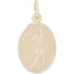 FEMALE GOLFER ENGRAVABLE