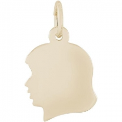 GIRLS HEAD ENGRAVABLE