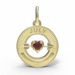 BIRTHSTONES JULY ENGRAVABLE