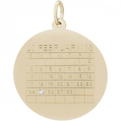 CALENDAR W DIAMOND ENGRAVABLE