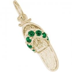 SANDAL   EMERALD GREEN ENGRAVABLE