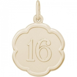 NUMBER 16 ENGRAVABLE