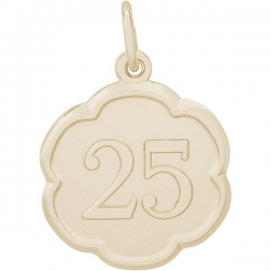 NUMBER 25 ENGRAVABLE