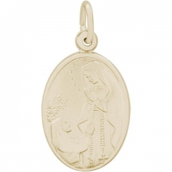 OUR LADY OF LOURDES ENGRAVABLE