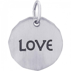 LOVE CHARM TAG ENGRAVABLE