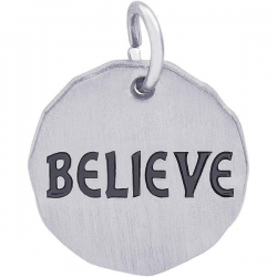 BELIEVE CHARM TAG ENGRAVABLE